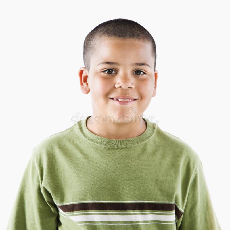 Menino latino-americano novo de sorriso fotografia de stock royalty free