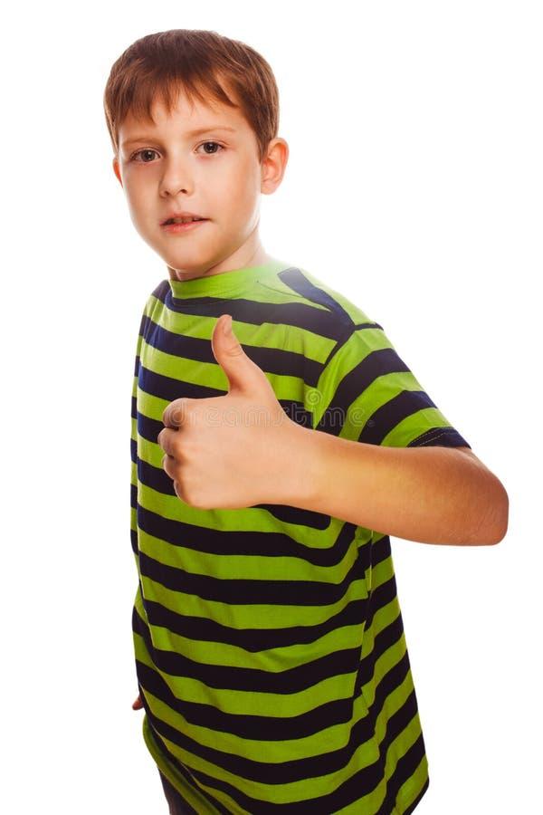 Menino louro da criança da criança em camisa listrada, guardando imagens de stock