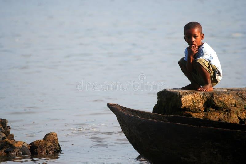 Menino malgaxe imagens de stock
