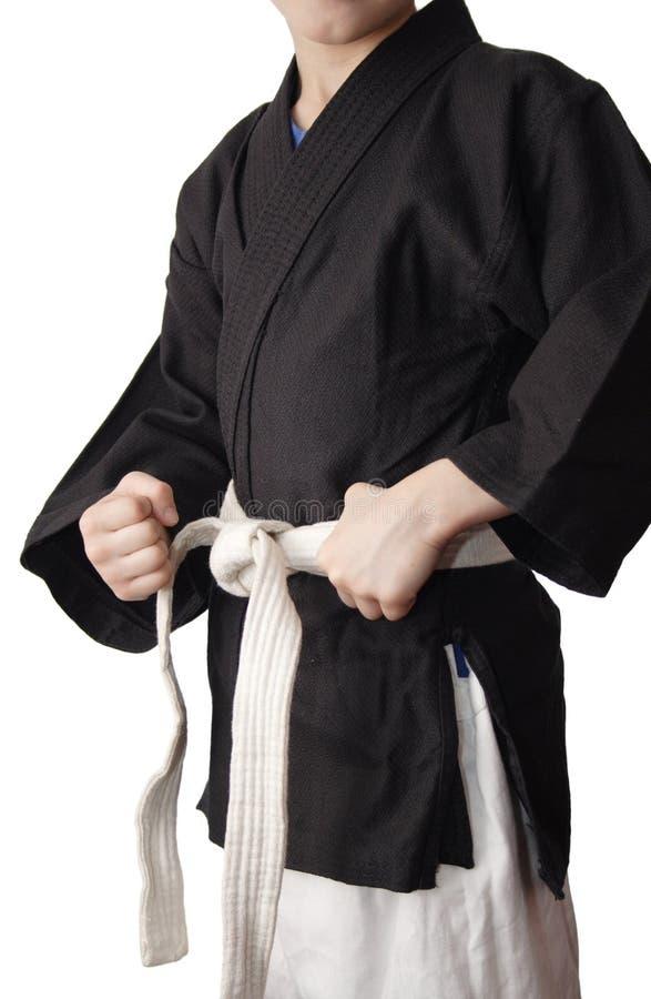 Download Menino no quimono preto foto de stock. Imagem de kimono - 26501244