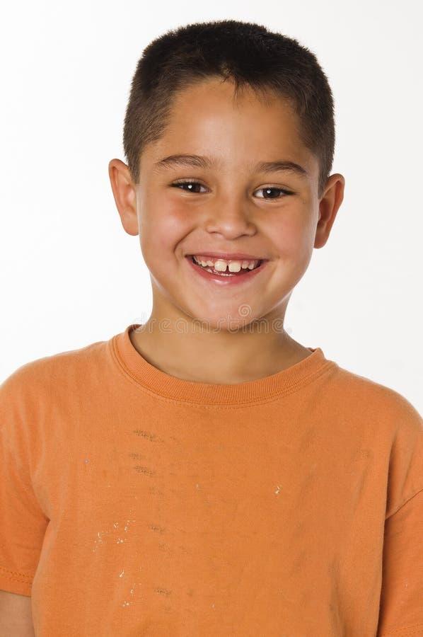 Menino novo de sorriso feliz imagens de stock royalty free
