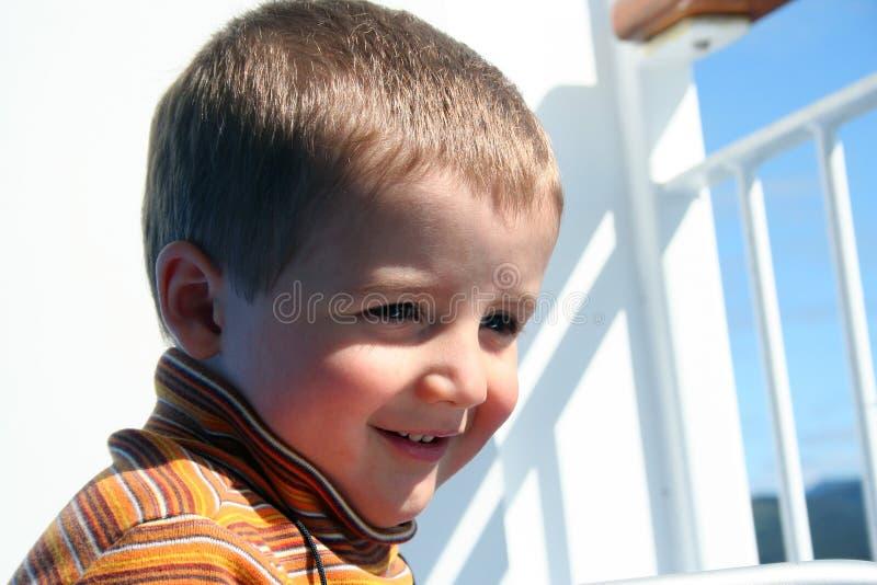 Menino pequeno feliz fotografia de stock