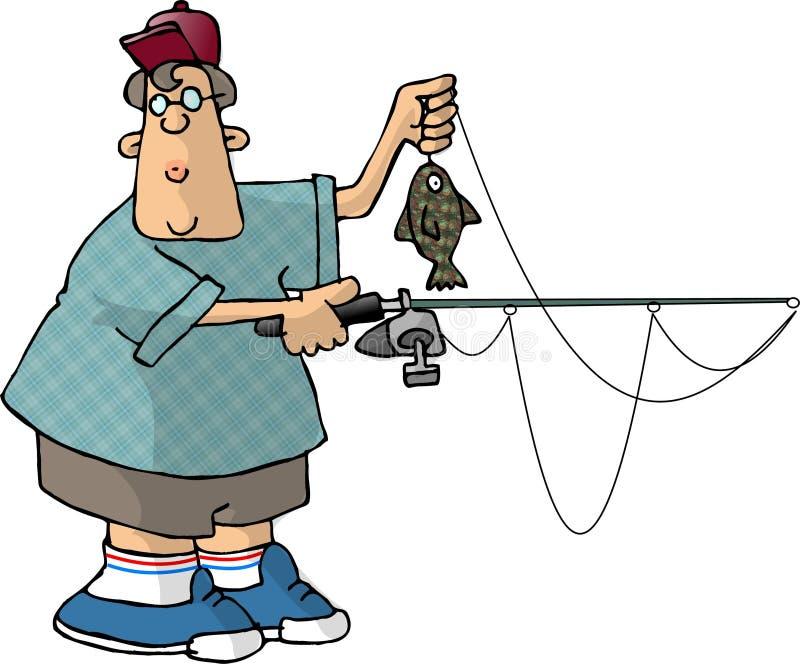 Menino que pesca 3 ilustração stock