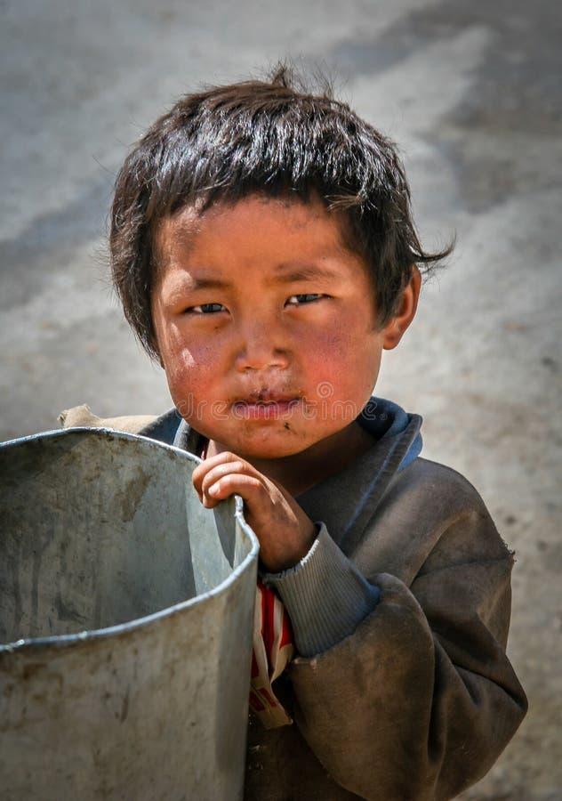 Menino tibetano fotos de stock royalty free