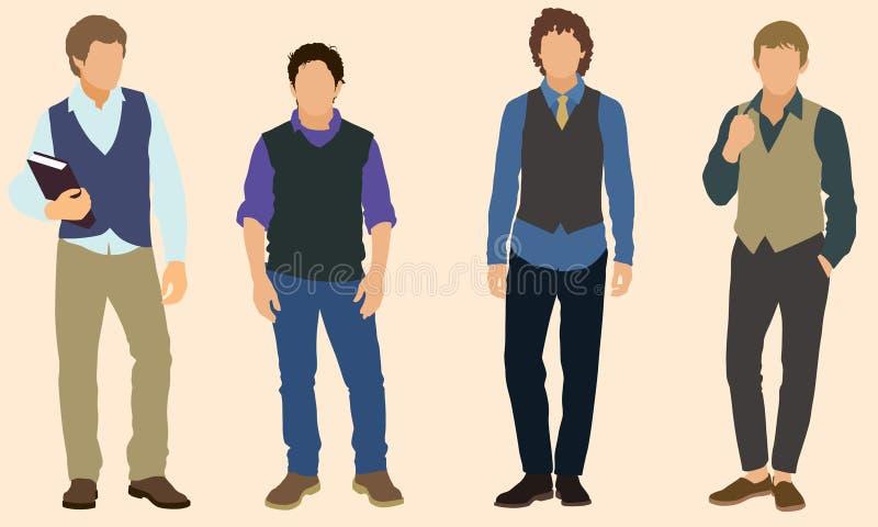 Meninos adolescentes ilustração do vetor