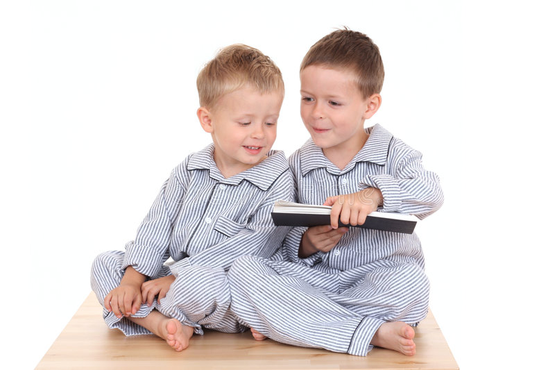 Meninos de Pijama fotografia de stock