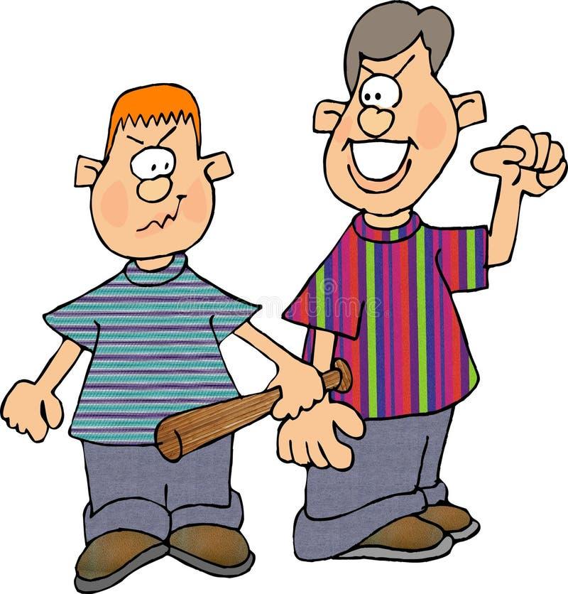 Download Meninos do Bully ilustração stock. Ilustração de bastão - 54253