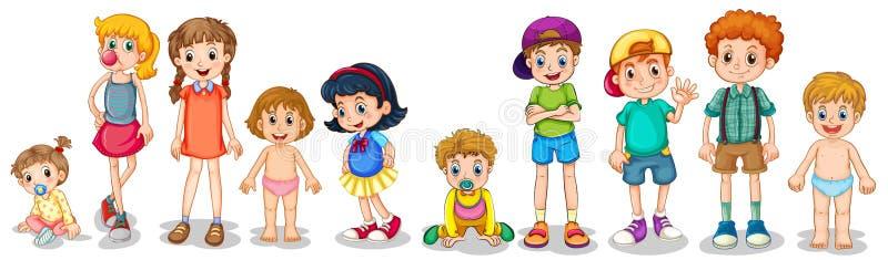 Meninos e meninas ilustração royalty free
