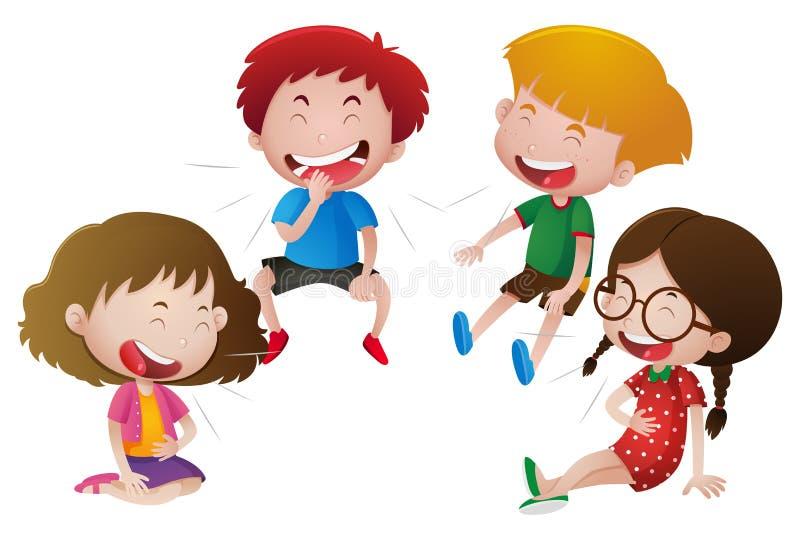 Meninos e riso das meninas ilustração stock