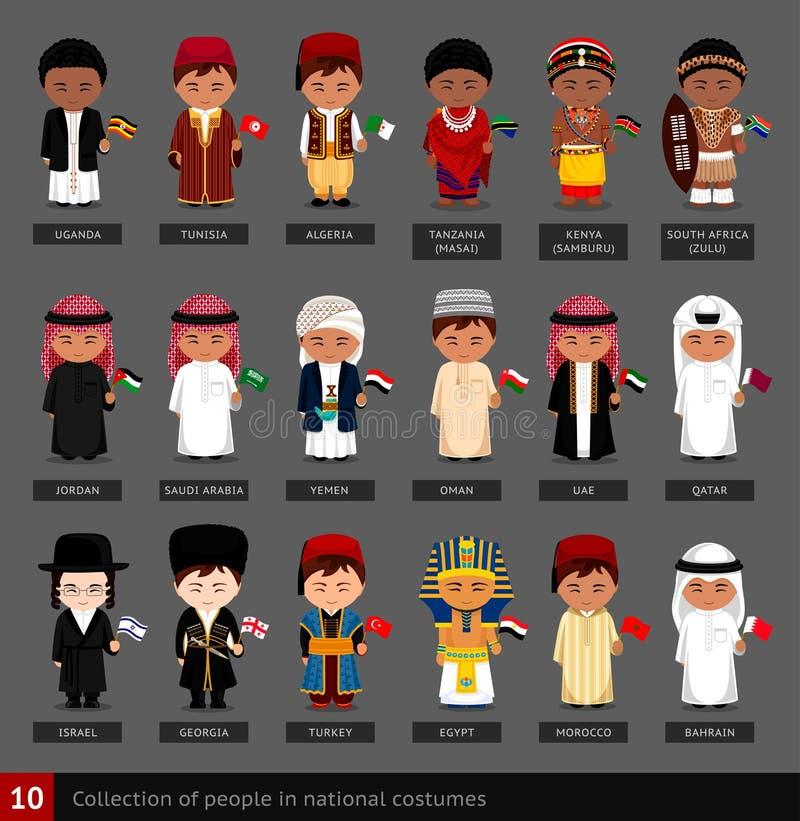 Meninos em trajes nacionais ilustração stock