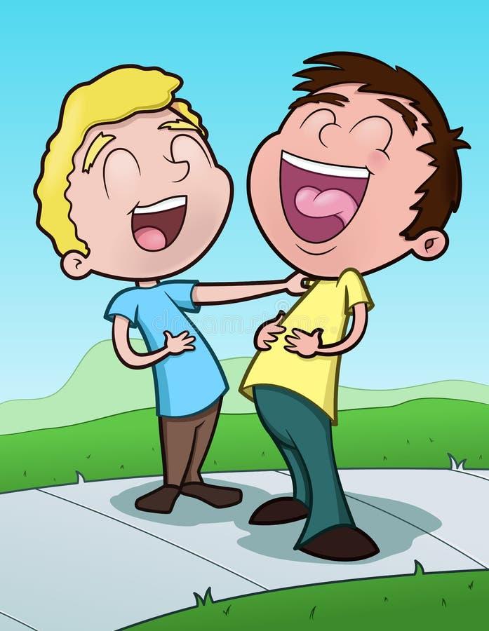 Meninos felizes ilustração royalty free