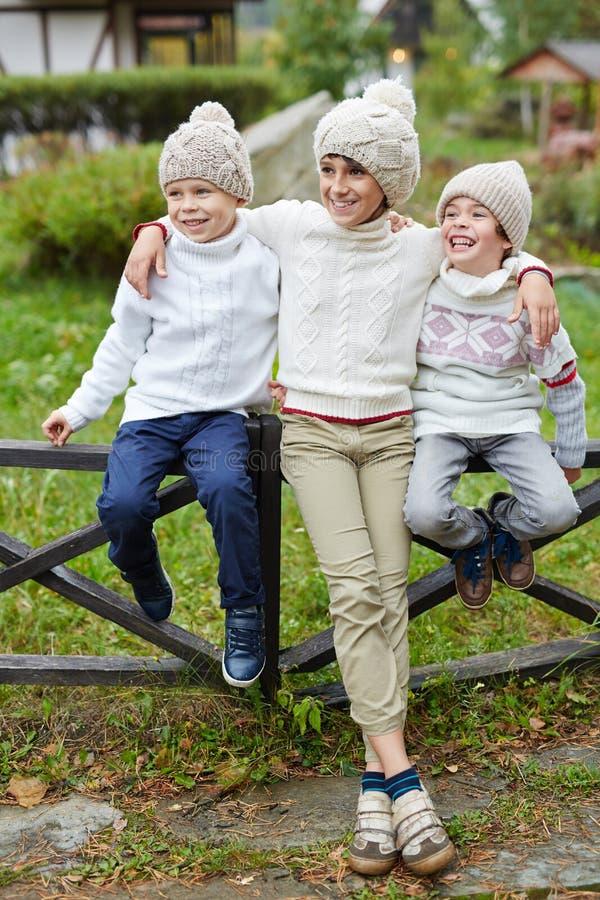 Meninos felizes imagem de stock