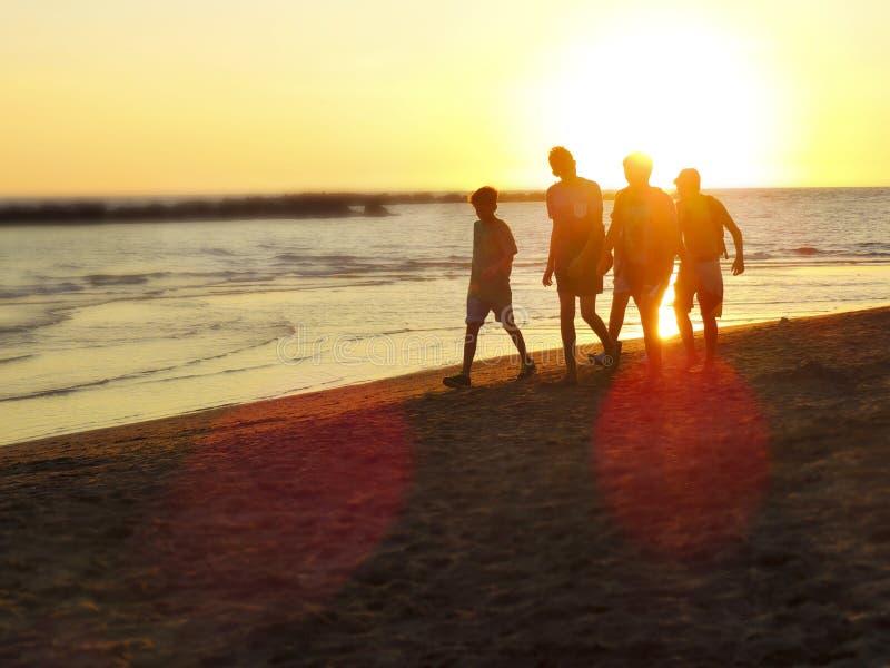 Meninos na praia imagens de stock