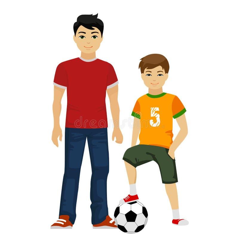 Meninos novos dos indivíduos do vetor bonito Miúdos ilustração do vetor