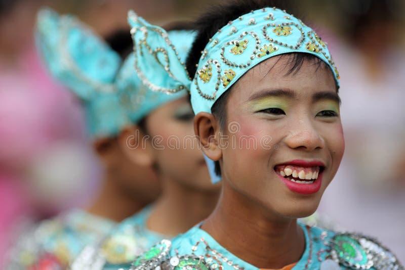 Meninos novos na cerimônia do principiante, Myanmar imagem de stock royalty free