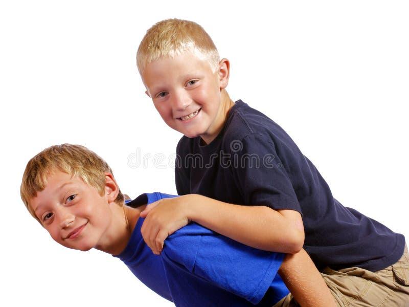 Meninos que têm pouco divertimento fotos de stock royalty free