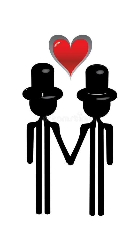 Meninos que wedding ilustração royalty free