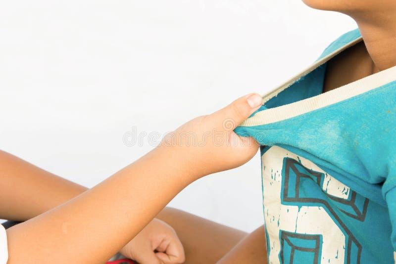Meninos Wrangling imagens de stock