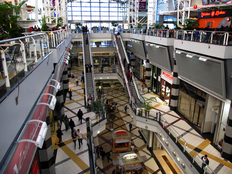 Menlyn Shopping Mall Pretoria South Africa. Editorial image of the interior of a section of Menlyn Shopping Mall / Center in Pretoria South Africa stock photography