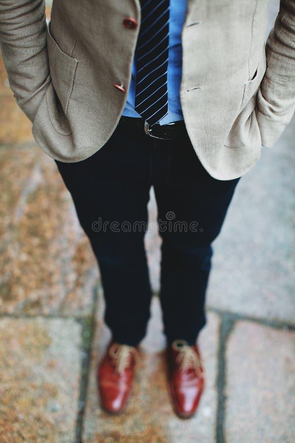 Menn z czerwonymi shos zdjęcie royalty free