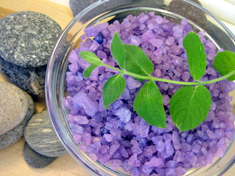 mennicy kąpielowa sól zdjęcie royalty free