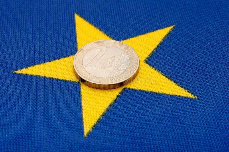 mennicza eu euro flaga zdjęcie royalty free