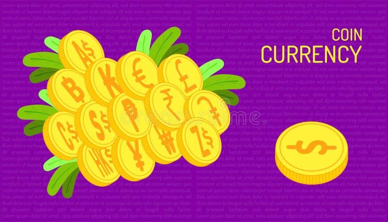 Mennicza waluta piękny kolor purpur tło ilustracja eps10 royalty ilustracja