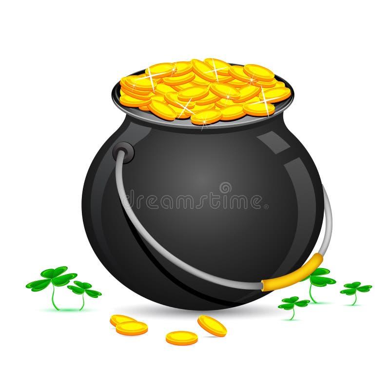 menniczego dzień złocisty Patrick garnka święty royalty ilustracja