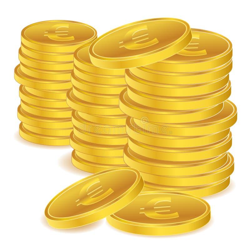 menniczy euro ilustracji