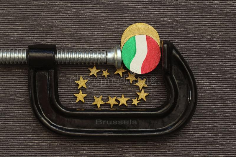 Menniczy Italy jest kahata naciskiem zdjęcie royalty free