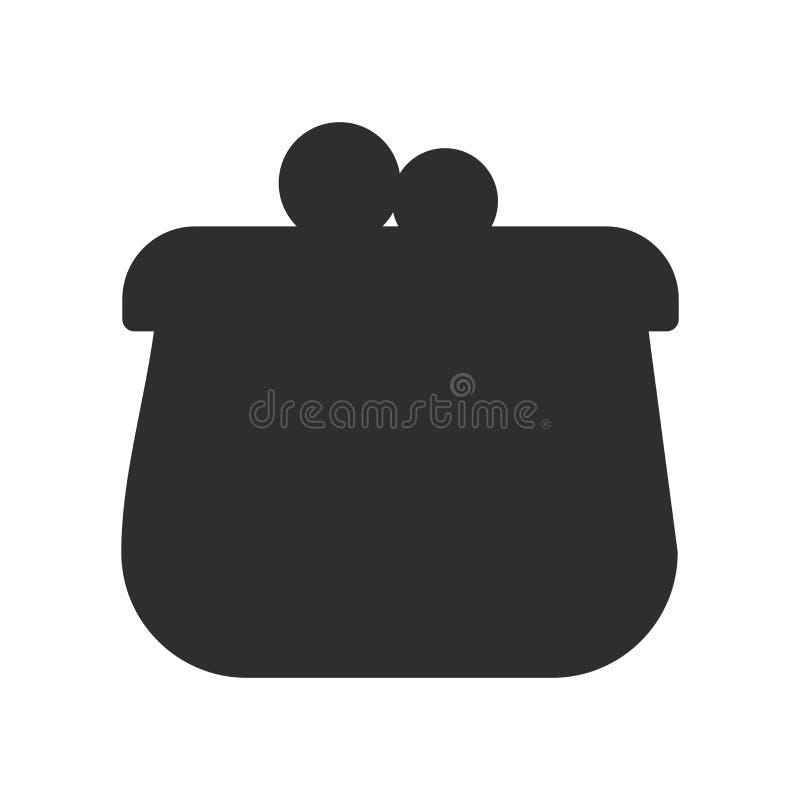 Menniczy kiesy ikony wektoru znak i symbol odizolowywający na białym tle, Menniczy kiesa logo pojęcie ilustracja wektor