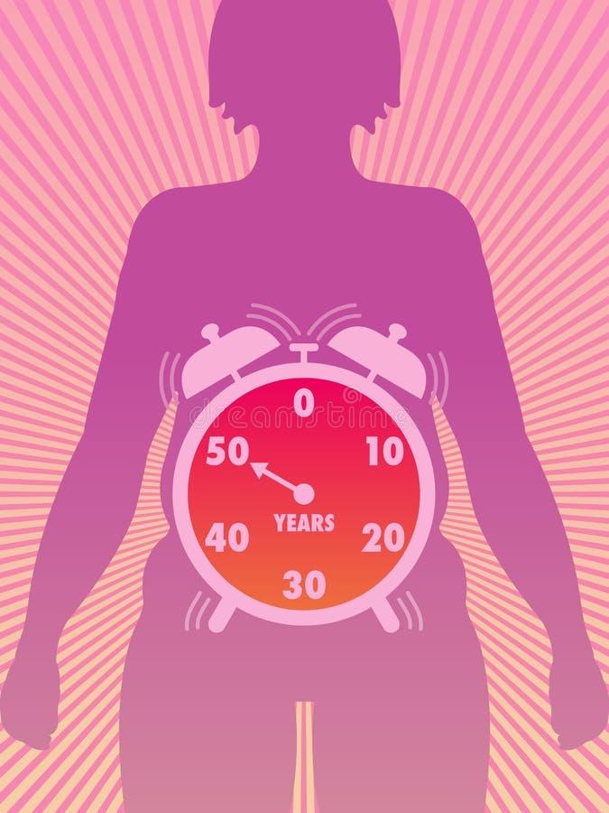 Menopausa illustrazione di stock