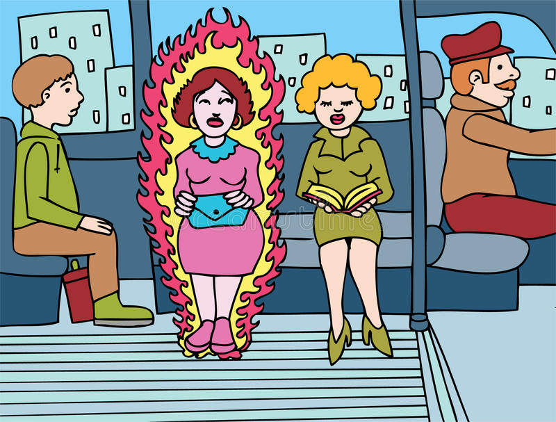 Menopausa ilustração royalty free