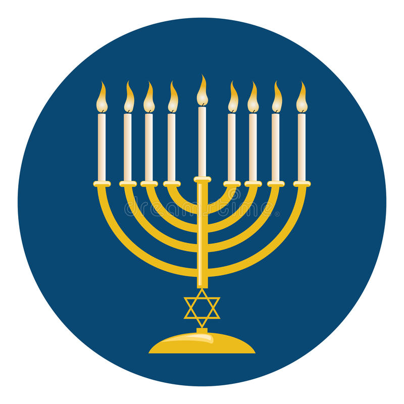 Menora pour la célébration de Hanoucca