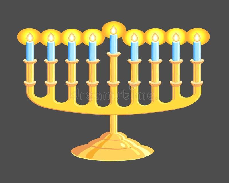 Download Menorah stock vector. Image of lights, decoration, festival - 11288489