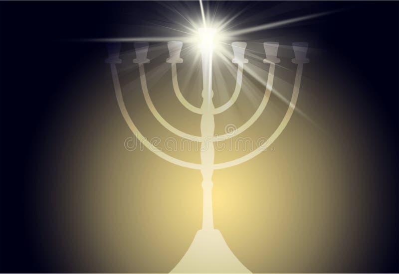 menorah ilustração do vetor