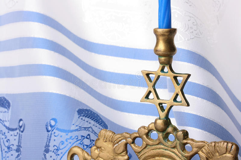 Menorah stockbilder