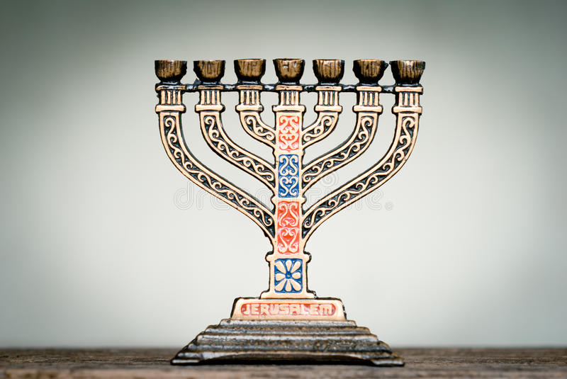 Menorah stockfoto