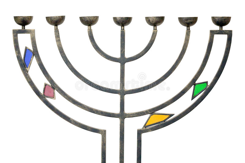 Download Menorah stock photo. Image of judaism, israel, isolated - 5173154