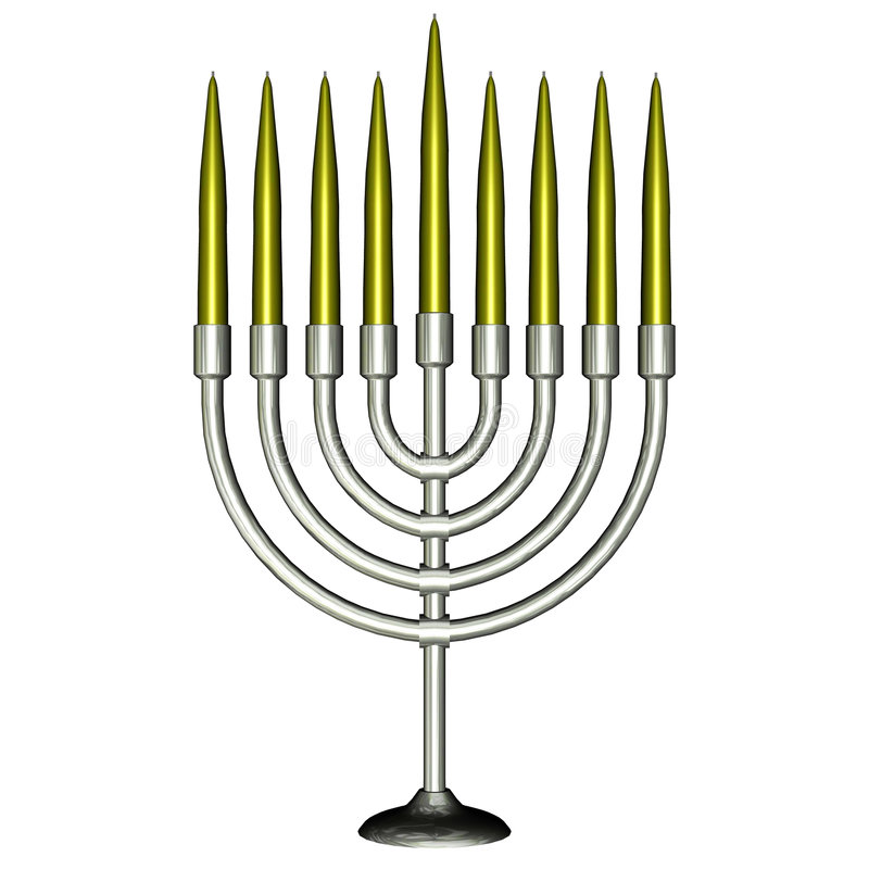 Menorah avec des bougies illustration libre de droits