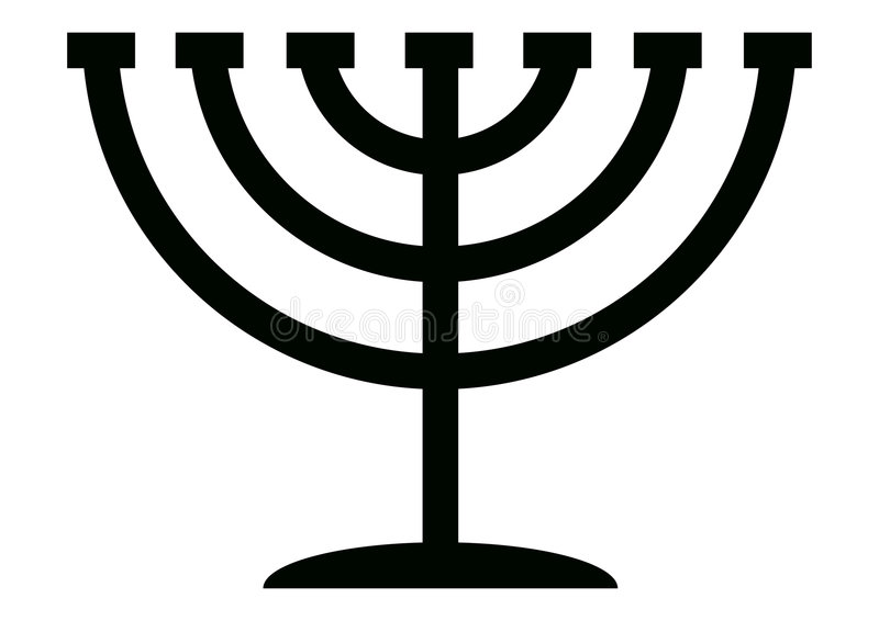 Menorah Candelabrum stock illustration