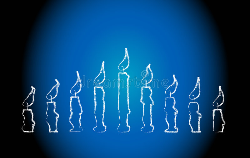 Download Menorah Candles stock illustration. Image of belief, candlight - 5164644