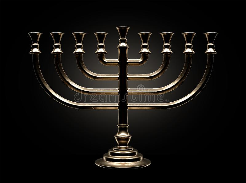 Menorah Casting stock illustration