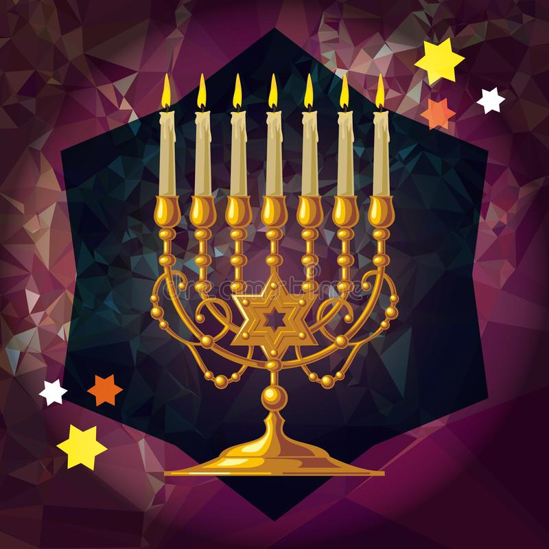 Menorah d'or illustration libre de droits