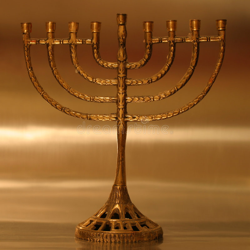 Menorah De Hanukkah Photos stock