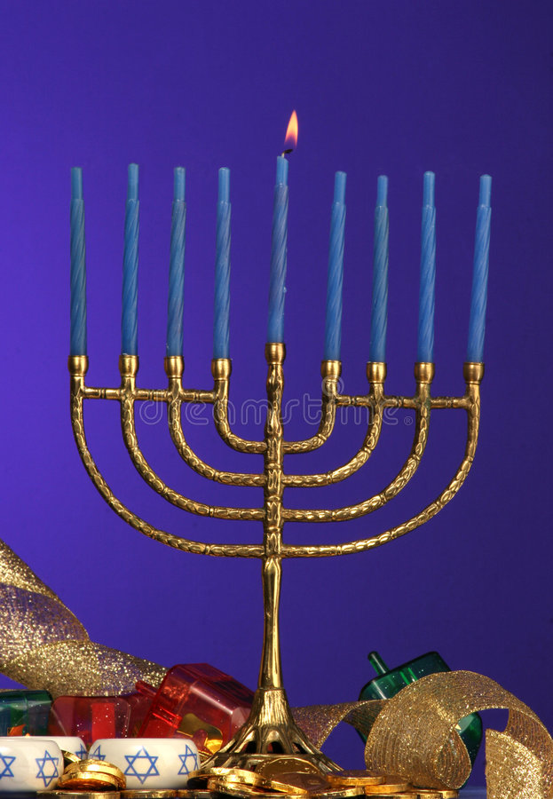 Menorah de Hanukkah foto de archivo libre de regalías