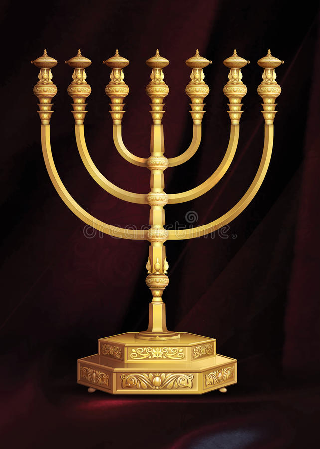 The Menorah stock photo