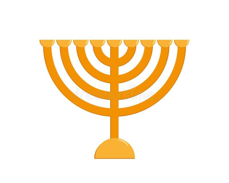 Menorah di Chanukah, candelabro ebreo di festa illustrazione di stock