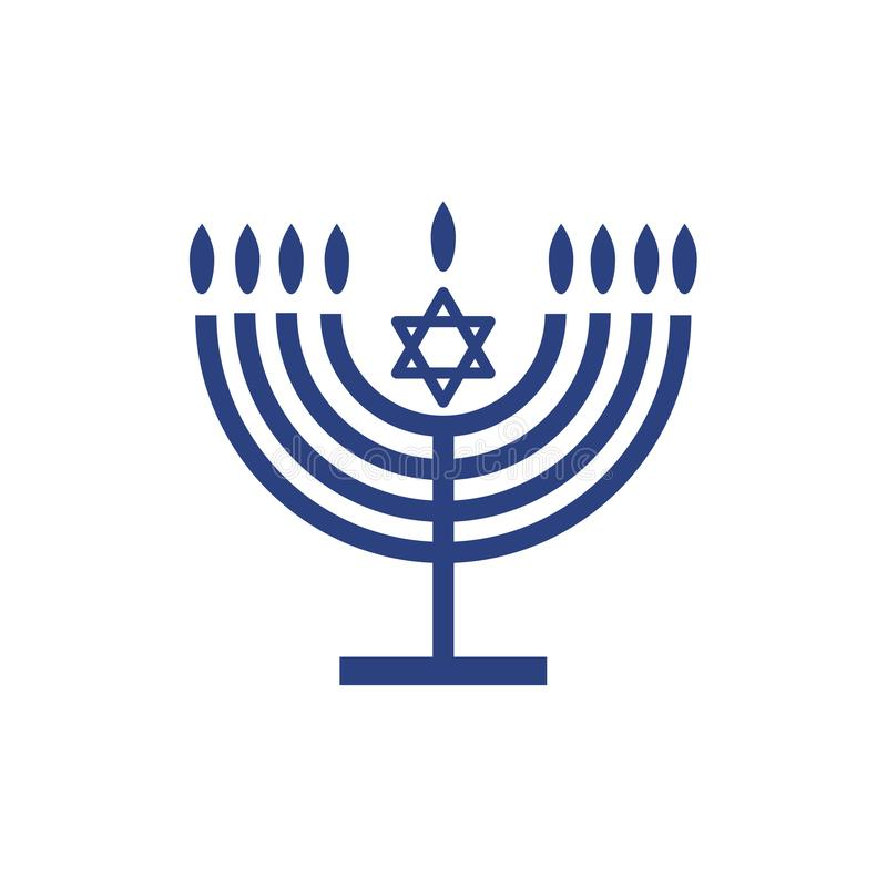 Menorah Hanukkah Symbol Wallpaper Stock Vector Illustration Of