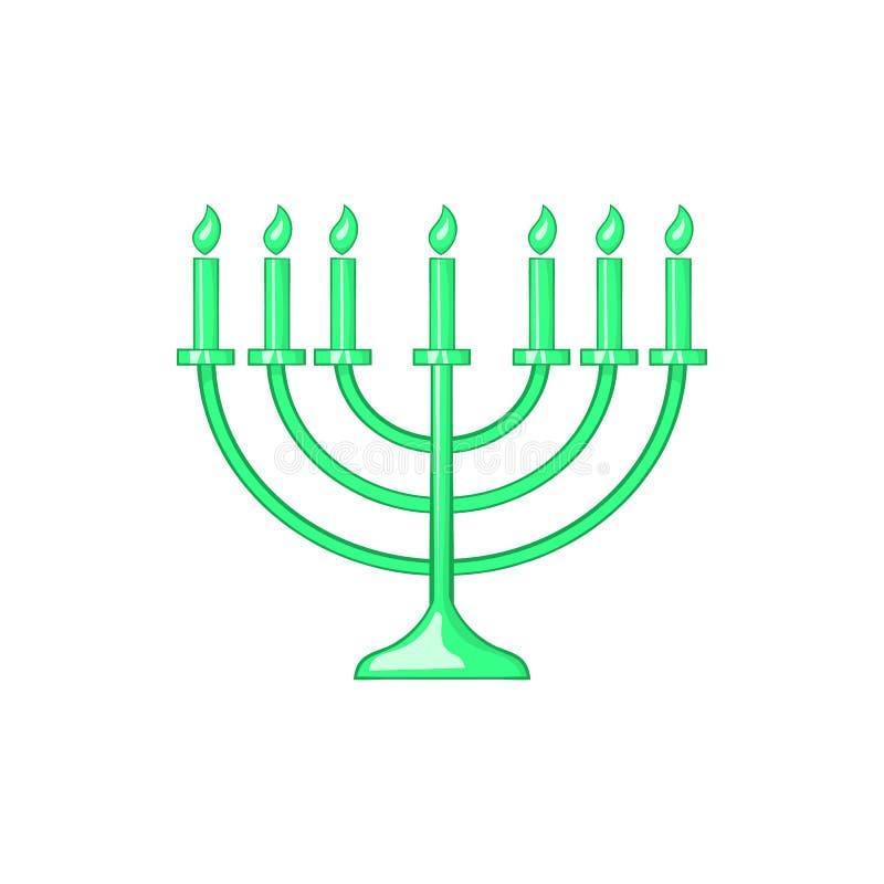 Menorah icon in cartoon style vector illustration